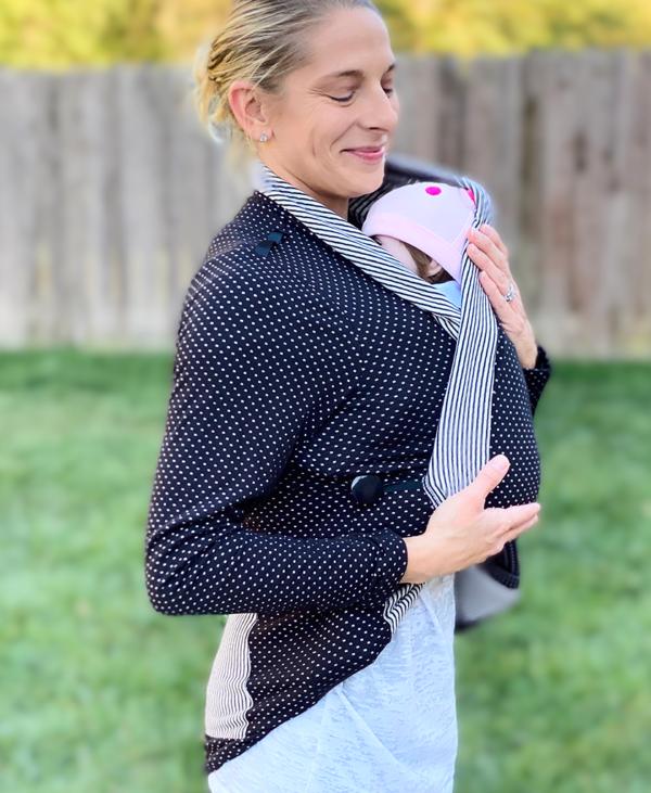 Black Mommy Wrap Long Sleeves