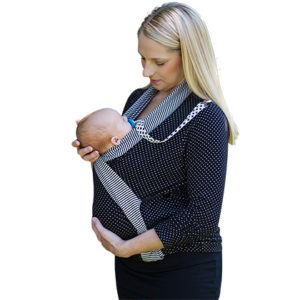 Mommy Wrap black polka dot